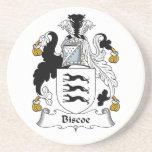 Escudo de la familia de Biscoe Posavaso Para Bebida
