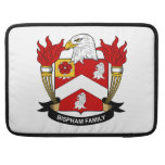 Escudo de la familia de Bispham Funda Para Macbook Pro