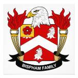 Escudo de la familia de Bispham Invitación