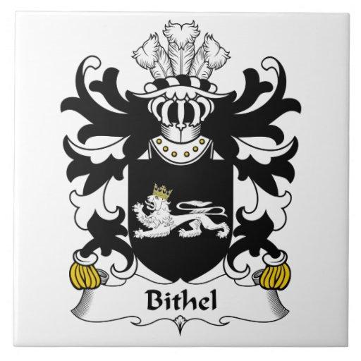 Escudo de la familia de Bithel Azulejo Cuadrado Grande