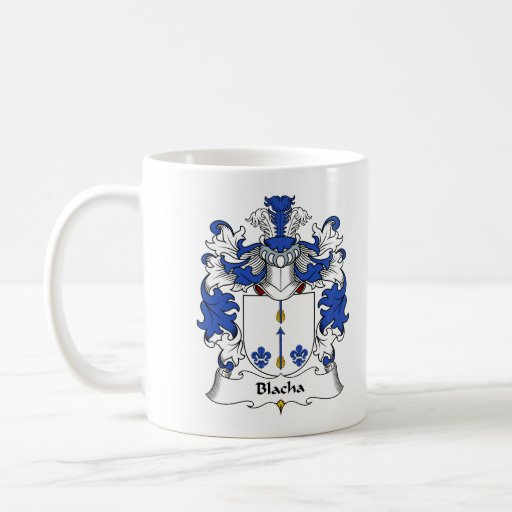 Escudo de la familia de Blacha Tazas De Café