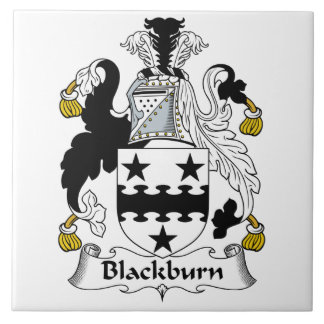 Escudo de la familia de Blackburn Azulejo Cuadrado Grande