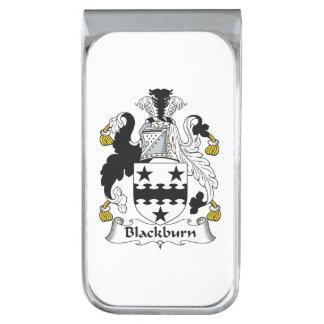 Escudo de la familia de Blackburn Clip Para Billetes Plateado