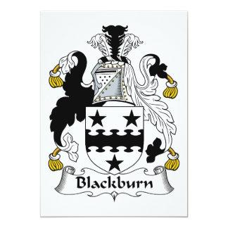 """Escudo de la familia de Blackburn Invitación 5"""" X 7"""""""