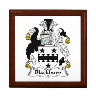 Escudo de la familia de Blackburn Joyero Cuadrado Grande