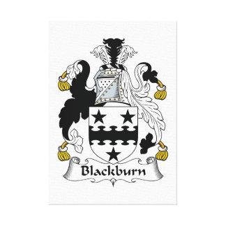 Escudo de la familia de Blackburn Lona Estirada Galerías