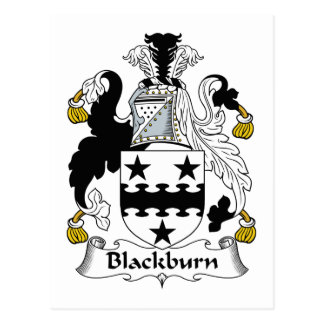 Escudo de la familia de Blackburn Postales