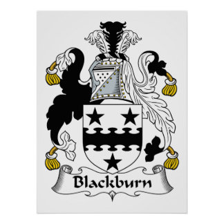 Escudo de la familia de Blackburn Póster