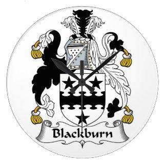 Escudo de la familia de Blackburn Reloj Redondo Grande