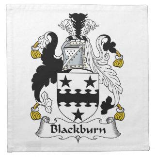 Escudo de la familia de Blackburn Servilletas Imprimidas