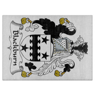 Escudo de la familia de Blackburn Tabla Para Cortar