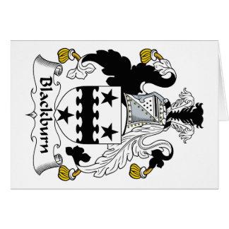 Escudo de la familia de Blackburn Tarjeta De Felicitación