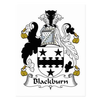 Escudo de la familia de Blackburn Tarjetas Postales