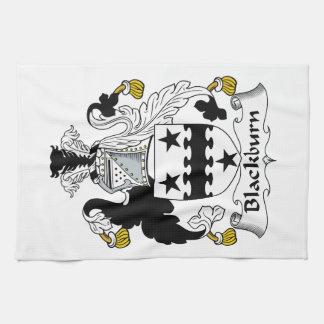 Escudo de la familia de Blackburn Toalla De Mano