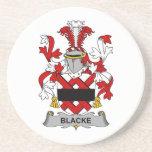 Escudo de la familia de Blacke Posavasos Personalizados