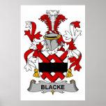 Escudo de la familia de Blacke Posters