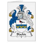 Escudo de la familia de Blackie Felicitaciones