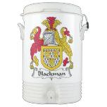Escudo de la familia de Blackman Enfriador De Bebida Igloo