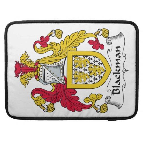 Escudo de la familia de Blackman Funda Para Macbooks