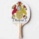 Escudo de la familia de Blackman Pala De Ping Pong