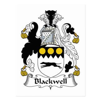 Escudo de la familia de Blackwell Tarjeta Postal