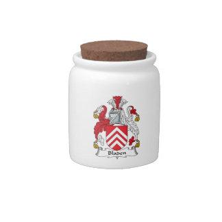 Escudo de la familia de Bladen Jarras Para Caramelos
