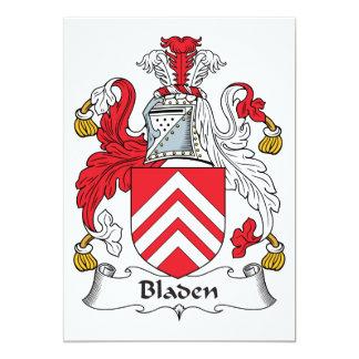 """Escudo de la familia de Bladen Invitación 5"""" X 7"""""""