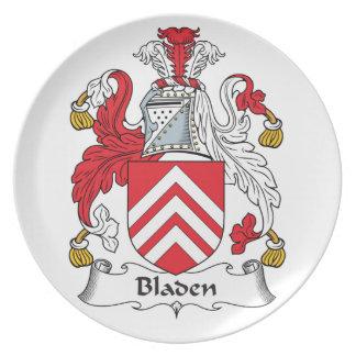 Escudo de la familia de Bladen Platos Para Fiestas