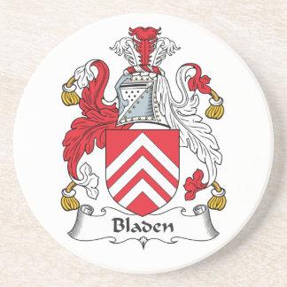 Escudo de la familia de Bladen Posavaso Para Bebida
