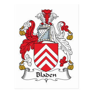 Escudo de la familia de Bladen Postal