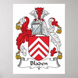 Escudo de la familia de Bladen Posters