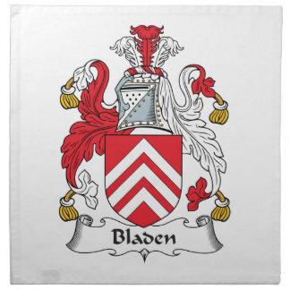 Escudo de la familia de Bladen Servilleta Imprimida