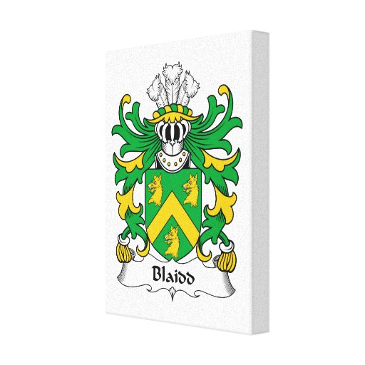Escudo de la familia de Blaidd Lona Envuelta Para Galerías
