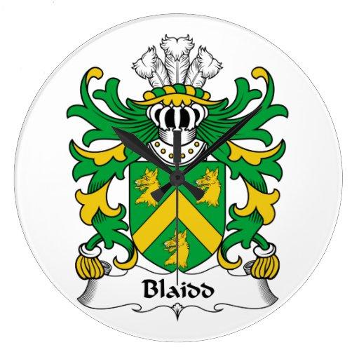 Escudo de la familia de Blaidd Relojes De Pared