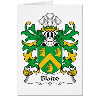 Escudo de la familia de Blaidd Tarjeta De Felicitación