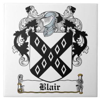 Escudo de la familia de Blair Azulejo Cerámica