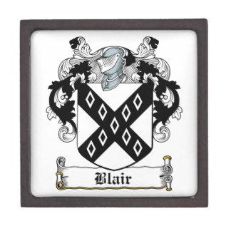 Escudo de la familia de Blair Cajas De Joyas De Calidad