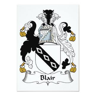 """Escudo de la familia de Blair Invitación 5"""" X 7"""""""