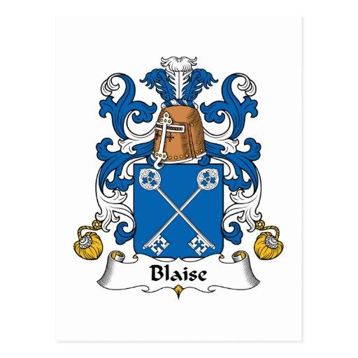 Escudo de la familia de Blaise Postales