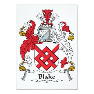 Escudo de la familia de Blake Invitación 12,7 X 17,8 Cm