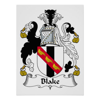 Escudo de la familia de Blake Posters