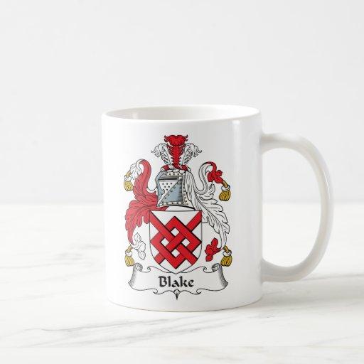 Escudo de la familia de Blake Taza De Café