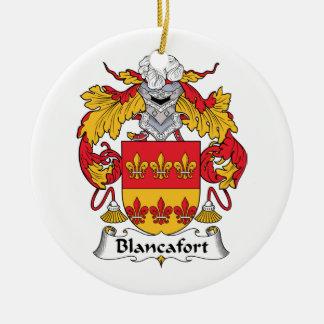 Escudo de la familia de Blancafort Adorno Navideño Redondo De Cerámica