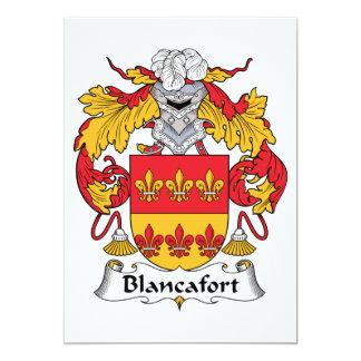 """Escudo de la familia de Blancafort Invitación 5"""" X 7"""""""