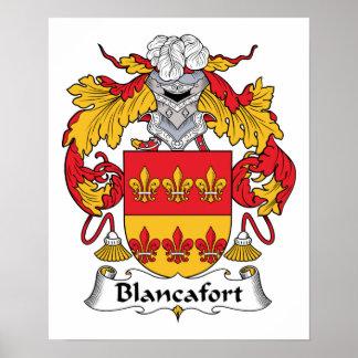 Escudo de la familia de Blancafort Posters