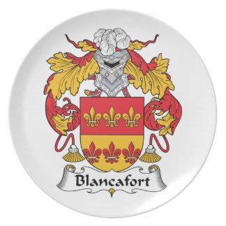 Escudo de la familia de Blancafort Platos De Comidas