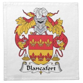 Escudo de la familia de Blancafort Servilleta De Papel