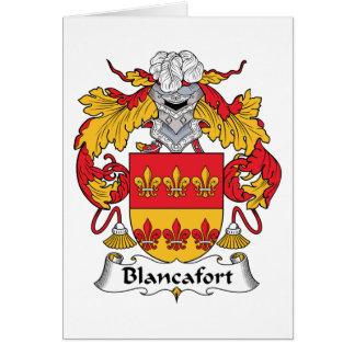 Escudo de la familia de Blancafort Tarjeta De Felicitación