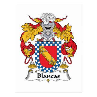 Escudo de la familia de Blancas Postales