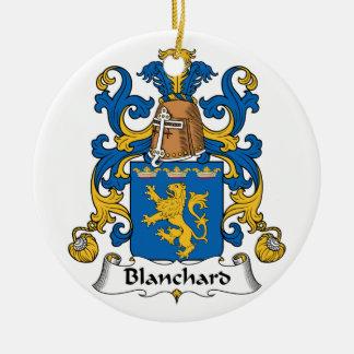 Escudo de la familia de Blanchard Ornamento Para Arbol De Navidad